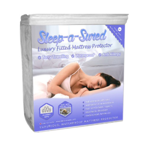 Luxury waterproof terry towelling fitted mattress protector